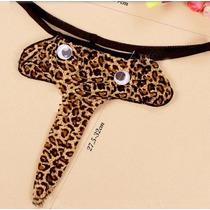 Cueca Lingerie Sexy G-string Elefante Leopardo