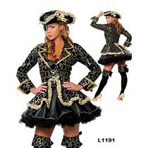 Fantasia Feminina Pirata Caribe Luxo Pronta Entrega