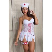 Fantasia Erótica Enfermeira Sensual Lingerie Sexy Loula Shop