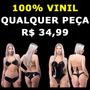 Conjunto Sutien Top Shorts Ou Body Bori Bore 100% Vinil