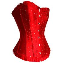 Corpete/corselet Tamanho M Vermelho