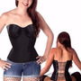 Corpete Overbust Com Bojo Corset Corselet Lady Large