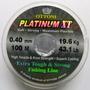 Linha De Pesca Platinum Xt 0.40mm. Pct C/ 10 Rolos. Ctba, Pr