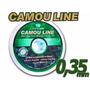 Kit Com 5 Linhas De Pesca 0,35mm Camou Line 100 Mts Cada