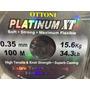 Linha Monofilamento Platinum Xt 0,35 0,45 0,50mm 1000m