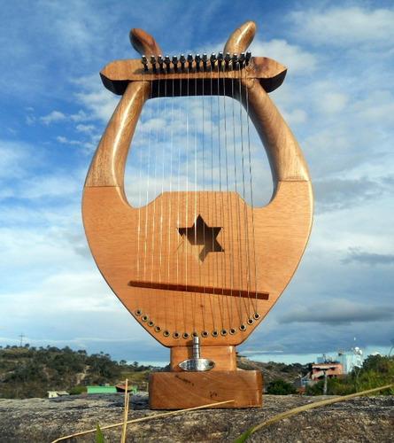 Lira Rei Davi - Mini Harpa 15 Cordas