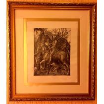 Gravura Inglesa Albrecht Durer, Emoldurada, Tamanha Original
