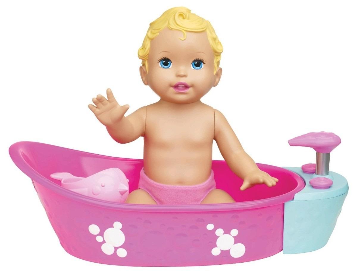 little mommy boneca hora do banho e banheirinha e. Black Bedroom Furniture Sets. Home Design Ideas