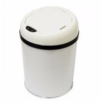 Lixeira Pia-banheiro-inox Automática Sensor 3 Litros Branca
