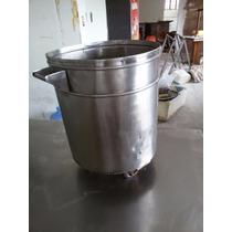 Lixeira Em Aço Inox - 100 Litros