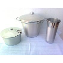 Kit Lixeira Pia Limpa Cesto Porta Sabão Detergente Alumínio
