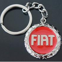 Chaveiro Fiat Logotipo Vermelho 3d 4s500 - Fina Qualidade!