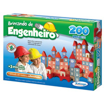 Brincando De Engenheiro 200 Peças - Xalingo - Pronta-entrega