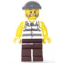 Lego Boneco Ladrão Camisa Rasgada - City - Frete R$5,00