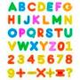 Letras E Números Plásticos - Alfabetização Lúdica Brincando
