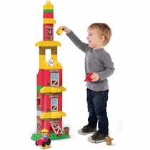 Brinquedo De Montar - Fazendinha De Blocos - 70 Peças