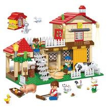 Brinquedo De Montar Casa Da Fazenda 390 Pcs Banbão 49429