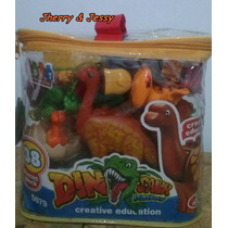 Brinquedo Pedagogico Bloco De Montar Reino Dos Dinossauros