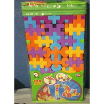 Brinquedo Pedagógico Blocos De Monar 124 Peças