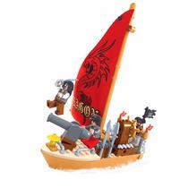 Navio Pirata, 132 Peças Brinquedo Bloco De Montar