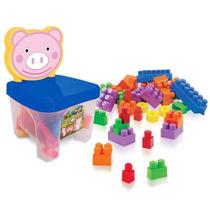 Brinquedo Infantil Kidverte Pig Blocos Para Montrar Big Star