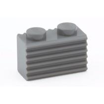 Lego 6 Peças Brick 1x2 Com Grille - Cinza Escuro - Pn 2877