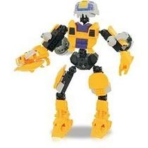 Robô Guerreiro Yellow Armor 57 Peças Xalingo Para Montar
