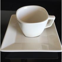 4 Xícaras De Café De Porcelana Com Pires Quartier Oxford