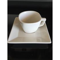 4 Xícaras De Chá Com Pires De Porcelana Quartier Oxford