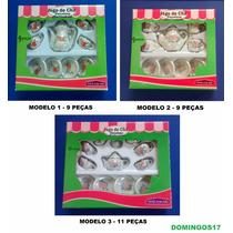 Miniatura Conjunto Jogo De Chá Café Em Porcelana - 3 Modelos