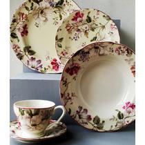 Aparelho De Jantar Porcelana 30pçs Gisela Cream L