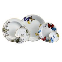 Aparelho De Jantar Borboletas Schmidt Porcelana 42 Peças