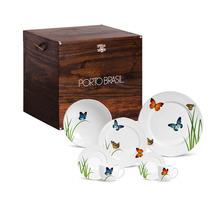 Aparelho De Jantar Butterfly Porto Brasil Baú 42 Peças
