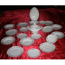 Conjunto Jantar Em Porcelana Fina Alemã Winterling Bavaria.