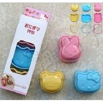 Forma De Arroz Hello Kitty (3 Peças) - Pronta Entrega!