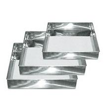 Conjunto Com 3 Formas Quadradas Para Bolo Em Aluminio