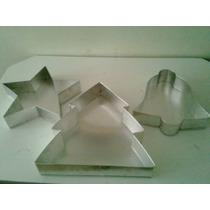 Forma Decorativa Temas De Natal Kit Com 3pçs. Em Aluminio