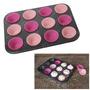 Assadeira Forma Inox Forminhas Em Silicone Cupcake 13 Pçs