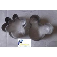 Jogo Cortador Mickey E Minnie Kit C/ 2pçs Inox