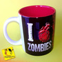 Caneca I Love Zombies | Eu Amo Zumbis | Personalizada