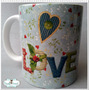 Caneca Love Patchwork Scrapbooking