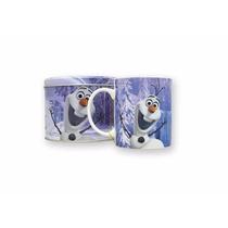 Caneca De Porcelana Na Lata Boneco Olaf Frozen