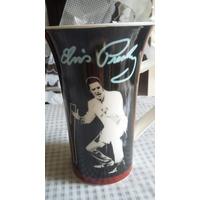 Autográfo E Imagens De Elvis Presley Caneca Grande Porcelana