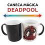 Caneca Deadpool - Muda Cor, Termossensível, Mágica Vermelha