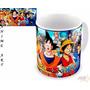 Caneca De Anime - Dragon Ball Z X One Piece