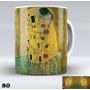 Conjunto Com 4 Canecas De Porcelana Coleção Gustav Klimt 01