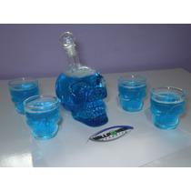 Kit Cranio Caveira Cristal - Garrafa 500ml + 4 Copos