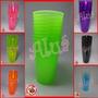 Kit 120 Copos Acrílico 300ml + 100 Pulseiras Neon