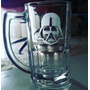 Caneca De Chopp Vidro 350ml Decorada Personalizada Star Wars