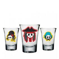 Copos De Tequila Shot Caveiras - 3 Peças